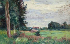 Picture landscape, picture, Maximilien Luce, Maximilien Luce, View in Méréville