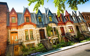Picture the city, Canada, houses, Montreal