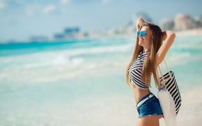 Picture hat, smile, model, pretty