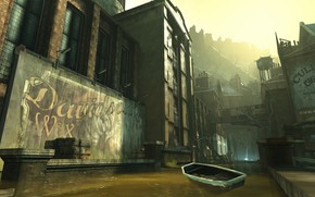 Picture city, the city, street, the game, Dishonored, Danuoll, a flooded quarter