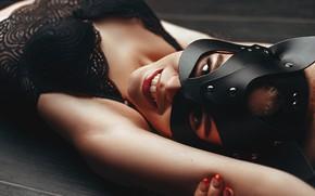 Picture look, smile, Girl, mask, Sasha Rusko, Sofia Aleikina