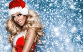 Picture girl, holiday, new year, maiden, girl, Christmas, fashion, winter, model, Beauty, model, Martin Krezel