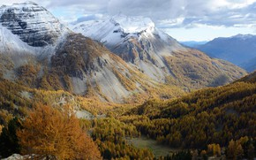 Picture autumn, mountains, France, valley, Alpes-Maritimes