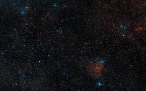 Picture Wide Field View, Digitized Sky Survey 2, IRAS 13481-6124, Constellation of Centaurus, It's surroundings