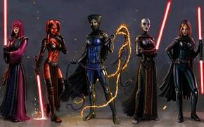 Picture girl, fiction, star wars, lightsaber, jedi, dark side, sith
