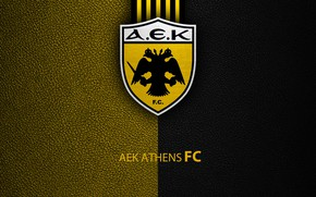 Picture wallpaper, sport, logo, football, Greek Super League, AEK Athens
