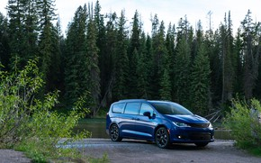 Picture auto, forest, blue, river, Chrysler, Pacifica Limited