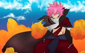 Picture fire, guy, Fairy Tail, Natsu Dragneel, Fairy tail