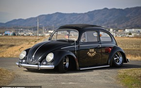Picture Volkswagen, Car, Tuning, Retro, Low