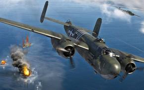 Picture USA, Bomber, B-25, Medium bomber, B-25H Mitchell
