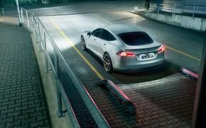 Picture sedan, rear view, Tesla, Model S, Novitec, 2017