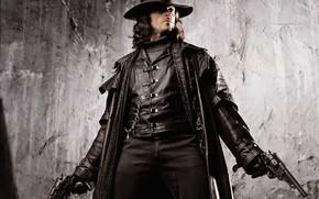 Picture weapons, guns, Van Helsing, Hugh Jackman, Hugh Jackman, Van Helsing, monster hunter, Gabriel Van Helsing