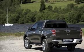 Picture Parking, Mitsubishi, pickup, pond, L200, 2015