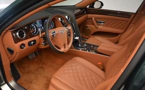 Picture interior, Bentley, Bentley, luxury, the interior of the car, Bentley Flying Spur V8 S, Flying …