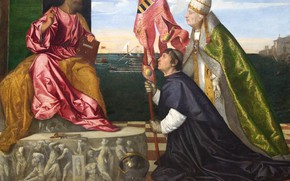 Picture Titian Vecellio, Pope Alexander VI, presents Jacopo Pesaro to Saint Peter, from 1506 to 1511