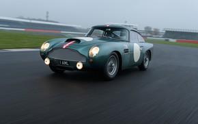 Picture Aston Martin, Speed, Asphalt, Lights, Track, Classic, 2018, Classic car, 1958, DB4, Sports car, Aston …