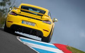 Picture Porsche, Speed, Cayman, Track, Room, GT4, 2019, Porsche 718 (982) Cayman GT4