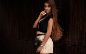 Wallpaper look, hair, Girl, bag, beautiful, Daria Kudelko, Darya Kudelko, Alexander Bui