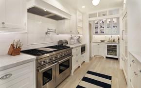 Picture interior, kitchen, plate, cabinets