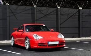 Picture Red, Parking, Sportcar, Porsche 996 GT3
