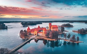 Picture castle, Trakai, Lithuania