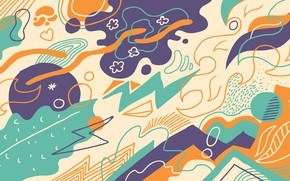 Picture abstraction, background, vector, art