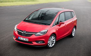 Picture red, Opel, Zafira, Turbo, van, 2016-19