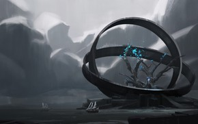 Picture tree, ships, ring