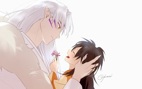 Picture love, romance, art, Rin, Inuyasha, Inuyasha, Seshoumaru