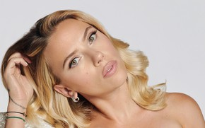 Picture look, girl, face, Scarlett Johansson, blonde, lips, beauty, Marie Claire