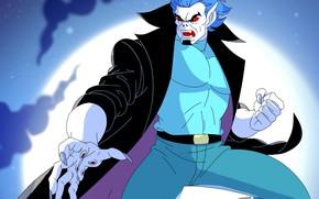 Picture night, the moon, vampire, Morbius, Spider-Man The Animated Series, Michael Morbius, living vampire