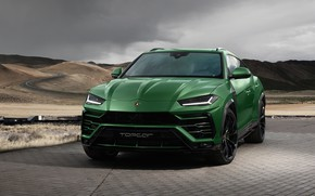 Picture Lamborghini, front view, 2018, Ball Wed, Urus