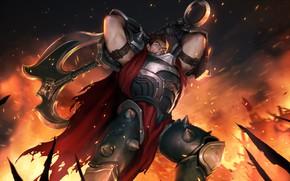 Picture fire, warrior, Darius, Legends of Runeterra