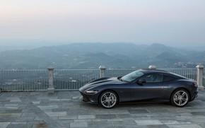 Picture coupe, Ferrari, side view, Roma, 2020