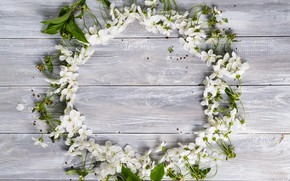 Picture leaves, flowers, background, tree, spring