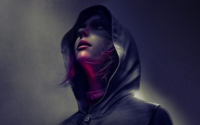 Picture girl, background, the game, Republic