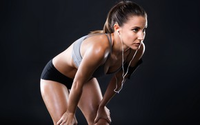 Picture girl, music, Sport