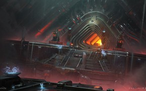 Picture fiction, fantasy, stage, the tunnel, statues, entrance, Destiny 2
