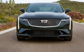 Picture Cadillac, sedan, front view, four-door, 2020, CT4