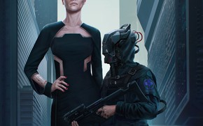 Picture The game, Style, Fantasy, Art, Art, Fiction, Fiction, Cyborg, Illustration, CD Projekt RED, Cyborg, Cyberpunk …