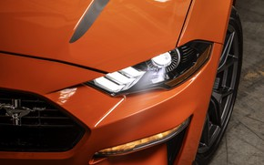 Picture light, orange, Mustang, Ford, the hood, 2020, fastback