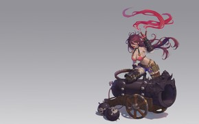 Picture anime, art, - , gun, Bomb, 0 Q