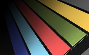Picture keys, colors, strap, panel