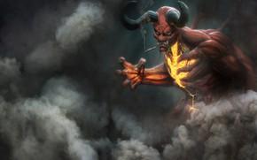 Picture Smoke, The demon, Fantasy, Horns, Art, Devil, Fiction, Character, The devil, Demon, Cigarette, Hell, by …