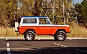 Picture Ford, 4x4, Classic car, Off Road, Bronco