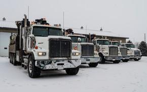 Picture trucks, Parking, Western Star, bonnet