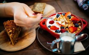 Picture Breakfast, cake, muesli