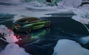 Picture snow, coupe, ice, BMW, frost, 2018, M8 Gran Coupe Concept