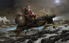 Picture art, Santa Claus, Santa, Merry Christmas~~~it!, Xuan Liu, castlevale Christmas