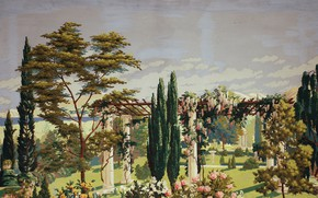 Picture 1926, Charles Ephraim Burchfield, The Riviera, left panel